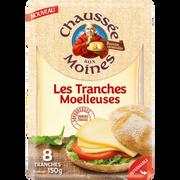 Chaussée aux moines Fromage À Pâte Pressée Non Cuite Tranches Moelleuses Chaussée Aux Moines, 25% De Mg, 150g