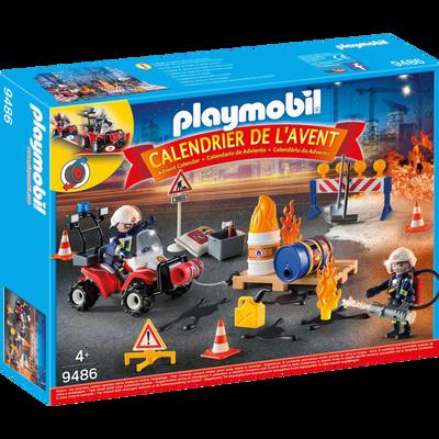 CALENDRIER DE L'AVENT POMPIERS PLAYMOBIL