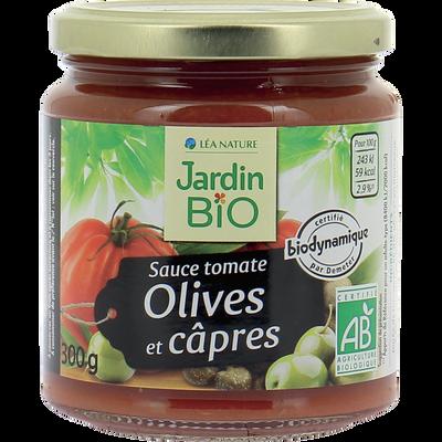 JB sauce tomate cuisinée olives et câpres bio JARDIN BIO 300g