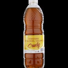 Vinaigre alcool coloré 6° CRUDY, bouteille de 1 litre