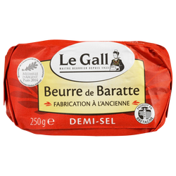 Beurre de baratte demi-sel fabrication ancienne LE GALL, 80%mg, 250g