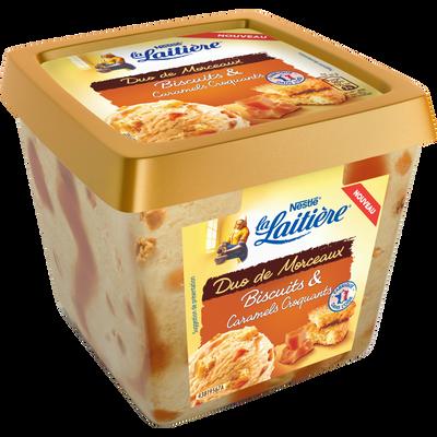 Crème glacée biscuit caramel LA LAITIERE, 430g