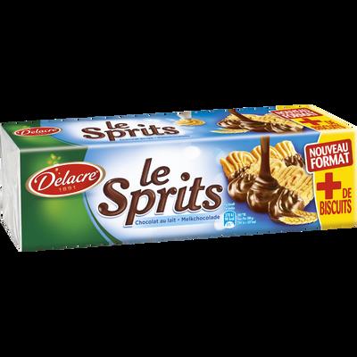Biscuits le sprits chocolat au lait DELACRE, paquet de 200g