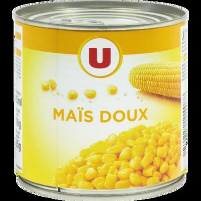 Maïs doux en grains U, boîte de 1/2, 285g