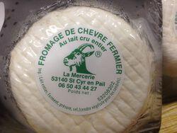 Petit rond blanc de la Mercerie(St Cyr en pail), au lait cru entier de chèvre, 250g