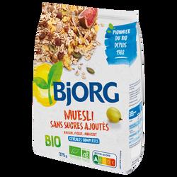 Muesli bio sans sucre ajouté BJORG, 375g