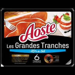 Jambon grandes tranches -25% de sel AOSTE 6 tranches 150g