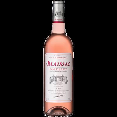 Vin rosé de Bordeaux AOP rosé Blaissac, bouteille de 75cl