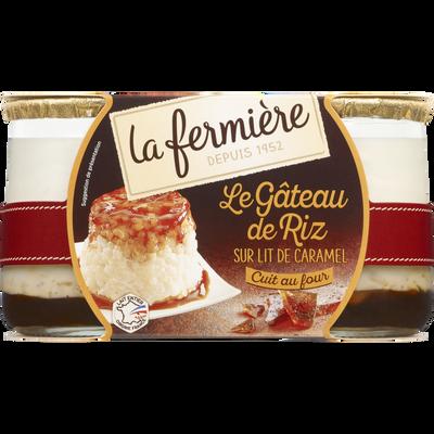 Gâteau de riz sur lit de caramel LA FERMIERE, 2x150g