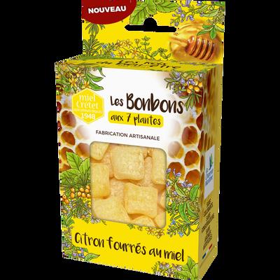 Bonbons 7 plantes citron fourrés miel MIEL CRETET, 150g