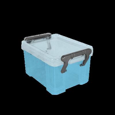 Boite de rangement, en polypropylène, 0,34l, bleu, idéale pour rangerles petits accessoires de bureau