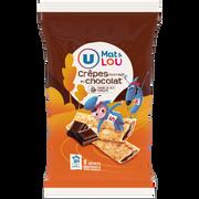 Lou Crêpes Fourrées Au Chocolat Mat & Lou U, Sachet De 8 Soit 256g