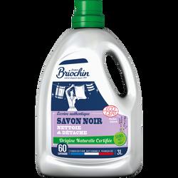 Lessive au savon noir écocert sans mit cmit BRIOCHIN, 3 litres soit 60lavages