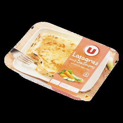 Lasagnes aux 2 saumons et aux petits légumes U, 300g