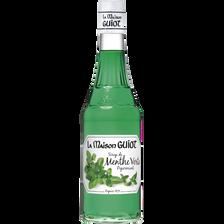 Sirop de menthe verte LA MAISON GUIOT, bouteille de 70cl