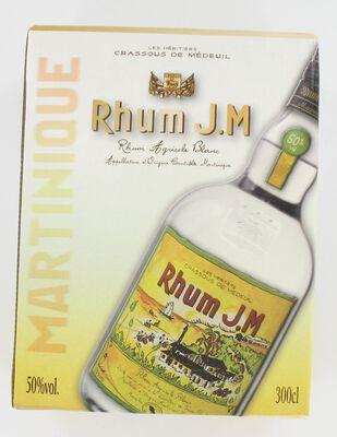 Rhum agricole blanc 50° vol. JM RHUM, bib 3L