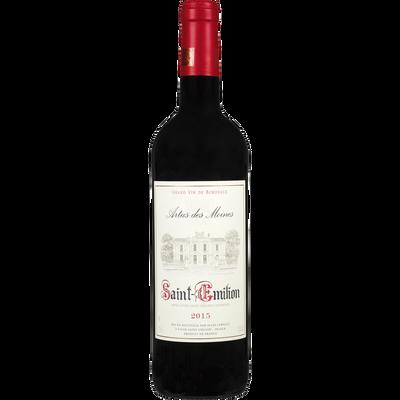 Saint-Emilion AOC rouge Artus des Moines U MDP, bouteille de 75cl