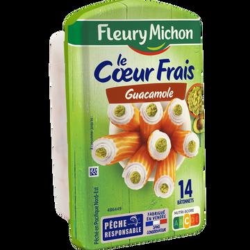 Fleury Michon Bâtonnets Surimi Coeur Frais Guacamole Fleury Michon X14 224g