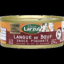 Langue de boeuf piquante MAISON LARZUL, boîte de 274g
