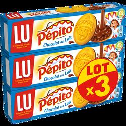 Biscuits chocolat au lait Lu PEPITO, 3x192g