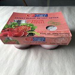 Yaourt brasse au lait entier Fruits rouges 4x150g FERME COLLET