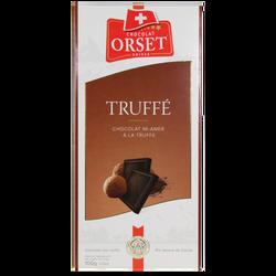 Tablette de chocolat noir mi-amer à la truffe ORSET, 100g