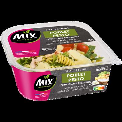 Salade fusilli poulet pesto sauce pesto et sachet de crumble basilic MIX BUFFET, 250g