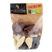 Chevaliers d'Argouges Fritures Assorties Chocolat Noir, Au Lait, Blanc Bio Chevaliers D'argouges, 220g
