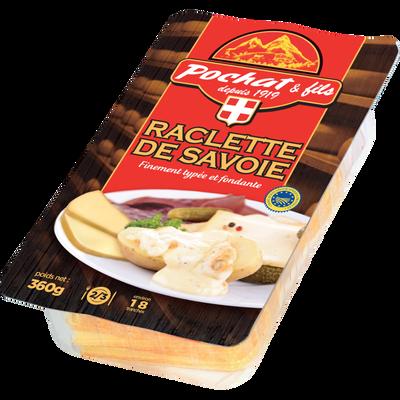 Raclette de Savoie au lait de montagne thermisé POCHAT ET FILS, 29%MG,360g