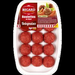 Boulette bolognaise, BIGARD, 15 pièces, barquette, 375g