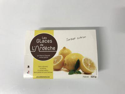 Glace de l'Ardèche citron jaune 450G