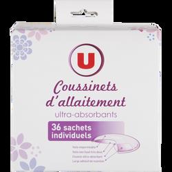 COUSSINETS D'ALLAITEMENT U TOUT PETITS   X36