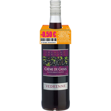 """Crème de cassis """"Nuit St George"""" VEDRENNE PAGES, 15°, bouteille de 1 litre"""