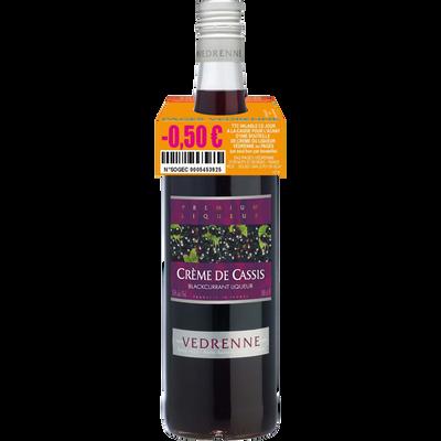 """Crème de cassis """"Nuit St George"""", VEDRENNE, 15°, bouteille de 1l"""