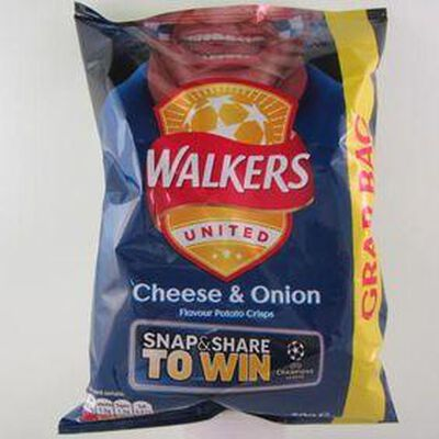 Chips fromage oignon WALKERS,50g