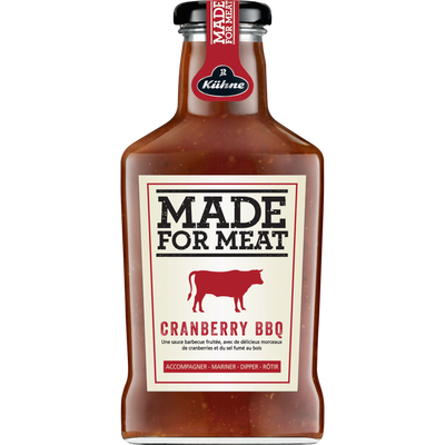 Sauce made for meat cranberry bbq, KUHNE, bouteille de 375ml