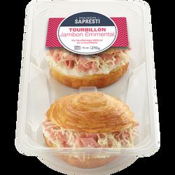 Tourbillon feuilleté jambon fromage Sapresti, 2x135g