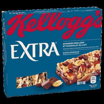 Kellogg's Barres Céréales Extra Kellogg's Chocolat Au Lait, 4x32g