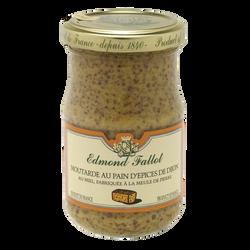 Moutarde au pain d?épices de Dijon EDMOND FALLOT, bocal 21cl