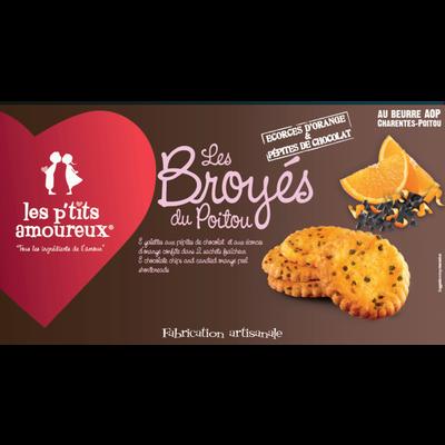 Broyé du Poitou orange et chocolat LES P'TITS AMOUREUX, 150g