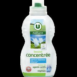 Lessive liquide concentrée Fraîcheur intense U NATURE , 30 lavages , 0,96l