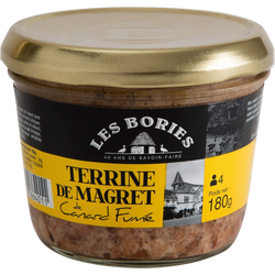 Terrine magret canard fumé LES BORIES, 180g