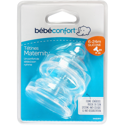 TETINE X2 SILICONE BOUT ROND COL LARGE MATERNITY T2