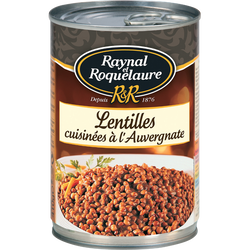 Lentilles cuisinées à l'Auvergnate RAYNAL & ROQUELAURE, 410g