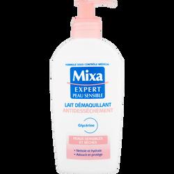 Démaquillant anti-dessèchement Confort Visage MIXA, flacon de 200ml