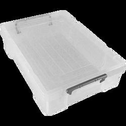 Boite de rangement, en polypropylène, 5,9l, blanc transparent