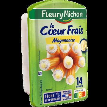 Fleury Michon Bâtonnets Surimi Coeur Frais Mayonnaise Fleury Michon X14 224g