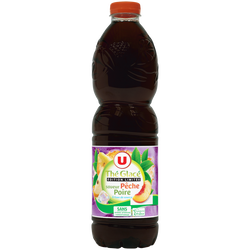 Boisson aux extraits de thé aromatisée saveur pêche poire 1,5L