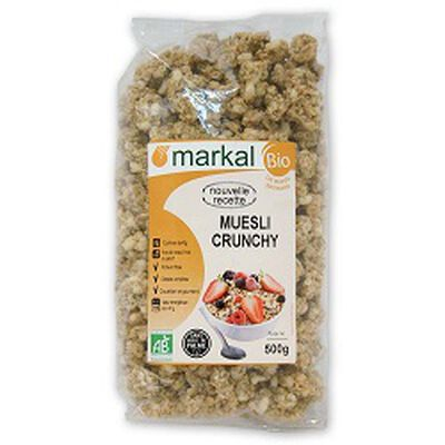 Muesli crunchy BIO, MARKAL, le paquel de 500g