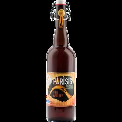 Bière ambrée PARISIS 6,2°, bouteille de 75cl